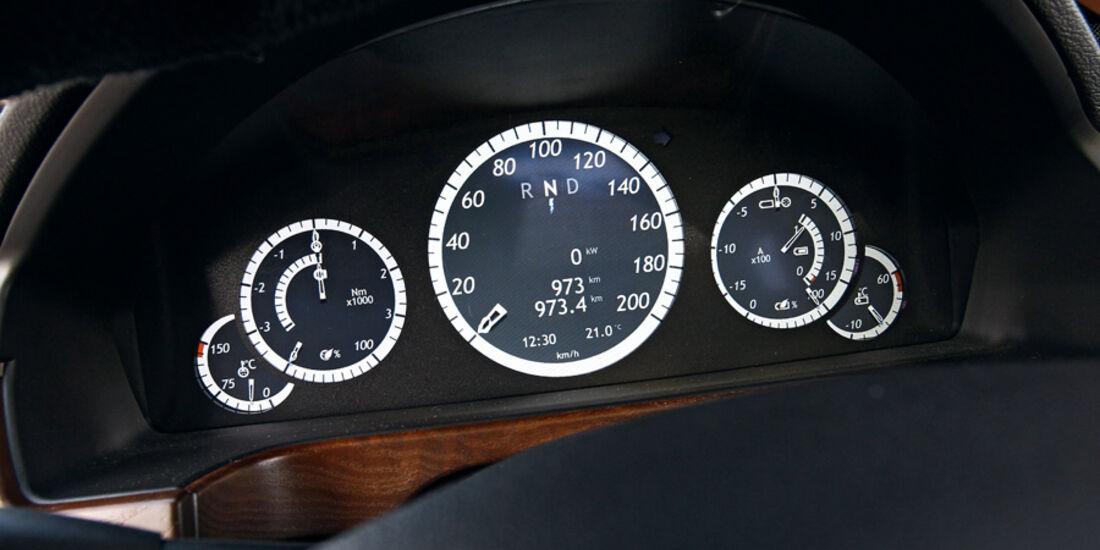 Brabus E4WD Full Electric, Rundinstrumente
