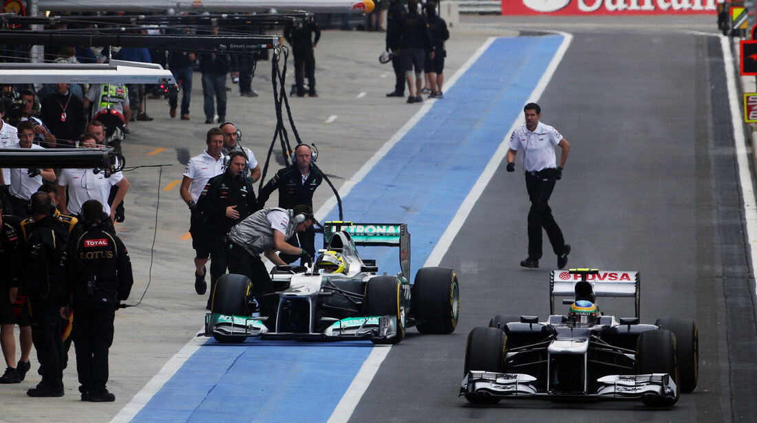 Bruno Senna & Nico Rosberg - Formel 1 - GP England - Silverstone - 7. Juli 2012