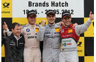Bruno Spengler, Gary Paffett, Mike Rockenfeller, DTM Brands Hatch 2012