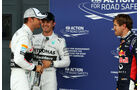 Button, Rosberg & Vettel - GP England 2014