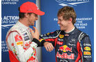 Button & Vettel - GP Brasilien - 26. November 2011