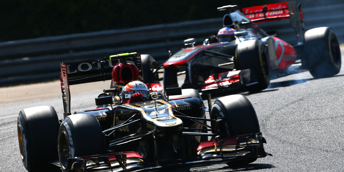 Button vs. Grosjean - GP Ungarn 2013