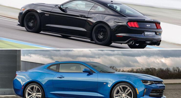 Ford Mustang Und Chevrolet Camaro Im Vergleich