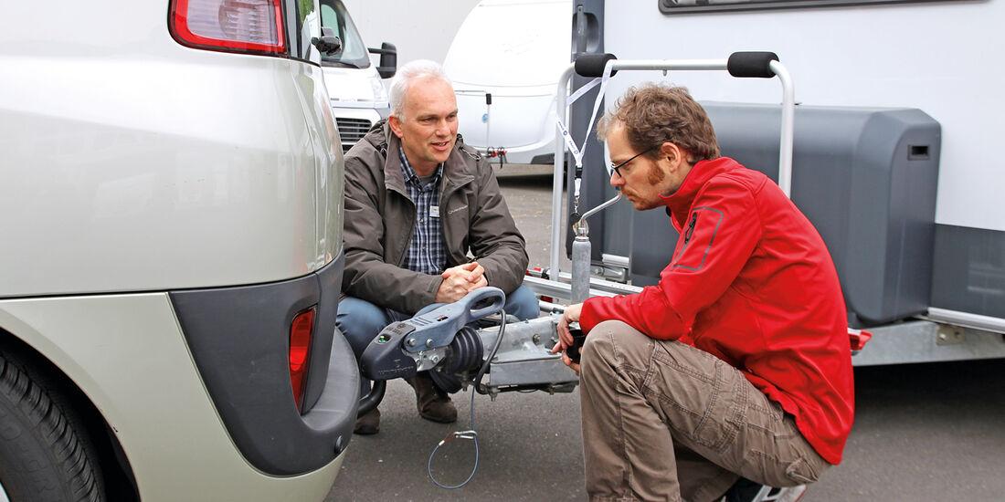 Caravan-Einsteiger, Anhängerkupplung, rettungsleine