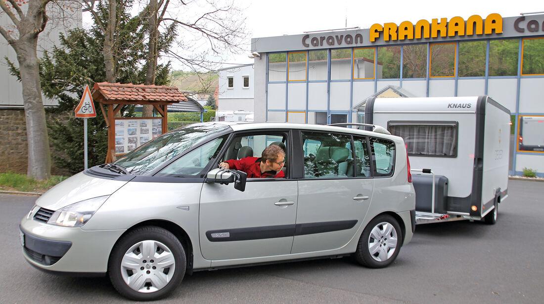 Caravan-Einsteiger, Einparken