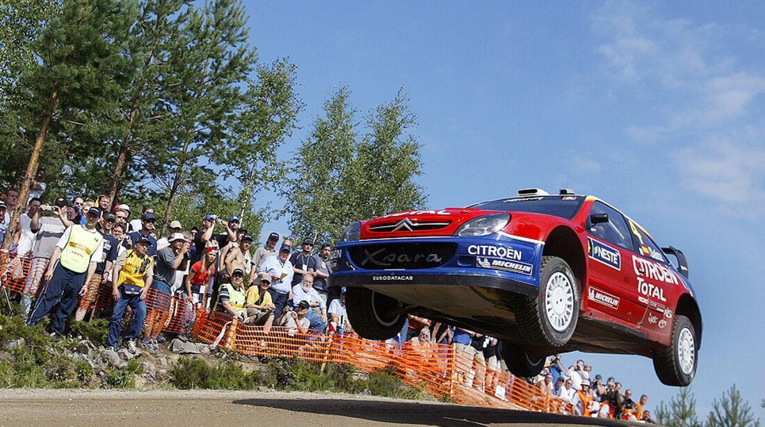 Carlos Sainz, Rallye Finnland 2004, Rallye-Sprünge