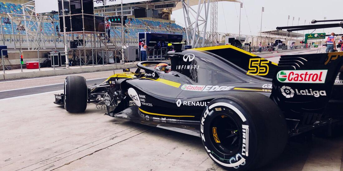 Carlos Sainz - Renault - Formel 1 - GP Bahrain - Training - 6. April 2018
