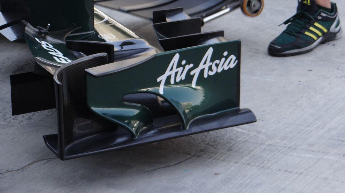 Caterham Endplatten Frontflügel - Formel 1 - GP Abu Dhabi - 01. November 2012