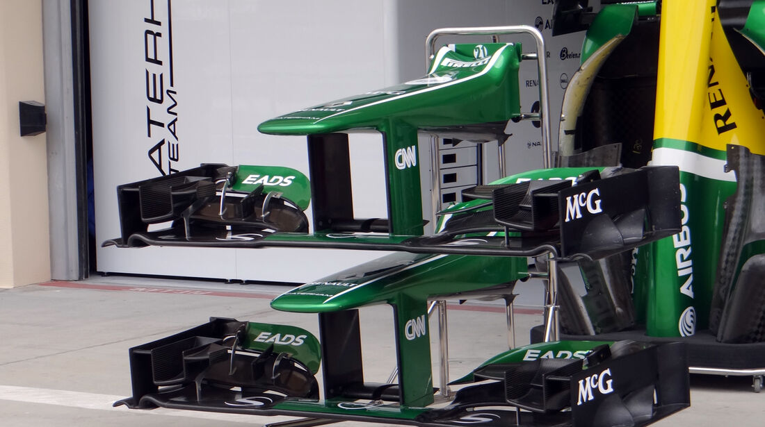 Caterham Frontflügel - Formel 1 - GP Bahrain - 18. April 2013