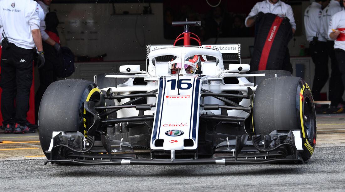 Charles Leclerc - Sauber - Formel 1 Test - Barcelona - Tag 4 - 1. März 2018