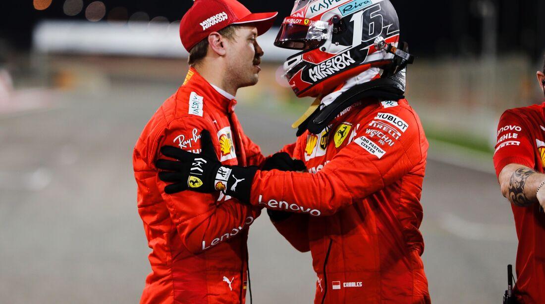 Charles Leclerc - Sebastian Vettel - Ferrari - Formel 1 - GP Bahrain - 30. März 2019