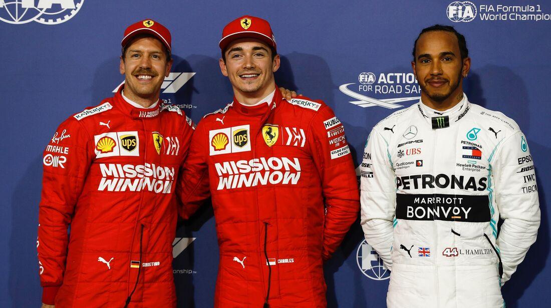 Charles Leclerc - Sebastian Vettel - Ferrari - Lewis Hamilton - Mercedes - Formel 1 - GP Bahrain - 30. März 2019