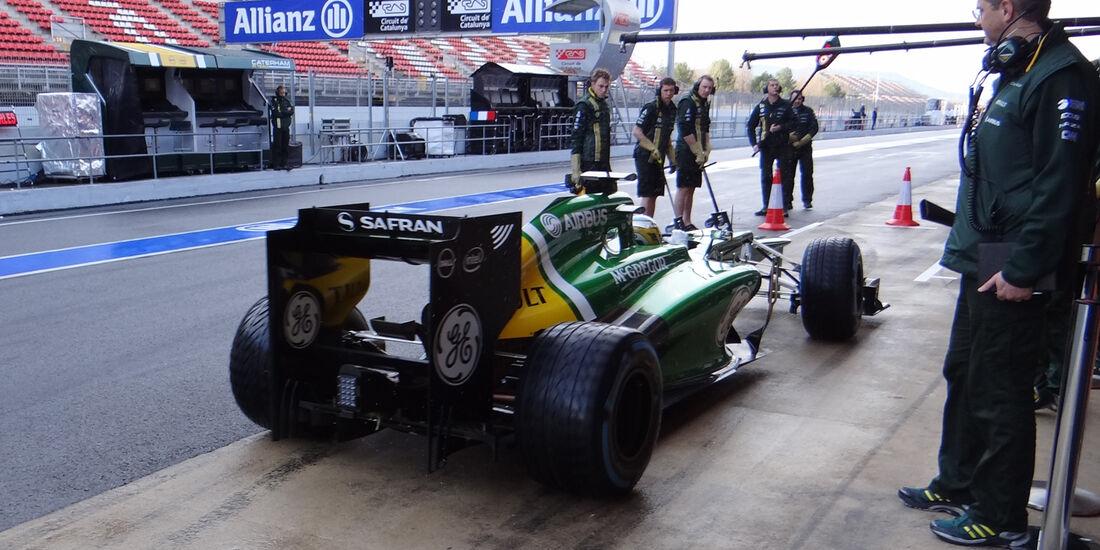 Charles Pic - Caterham - Formel 1 - Test - Barcelona - 28. Februar 2013