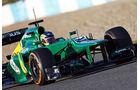 Charles Pic, Caterham, Formel 1-Test, Jerez, 8. Februar 2013