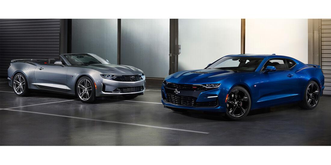 Chevrolet Camaro Cabrio und Camaro Coupé Modelljahr 2019