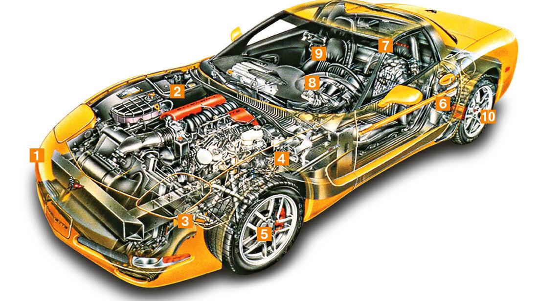 Chevrolet Corvette C5, Schwachpunkte, Igelbild