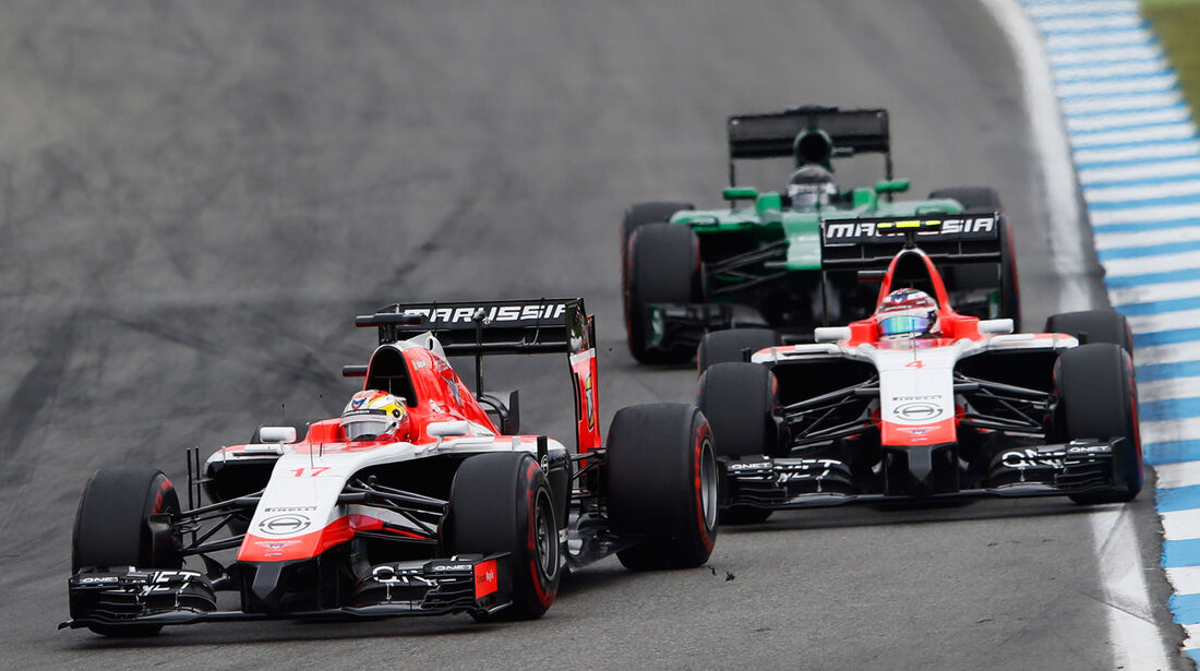 Chilton & Bianchi - Marussia - GP Deutschland 2014