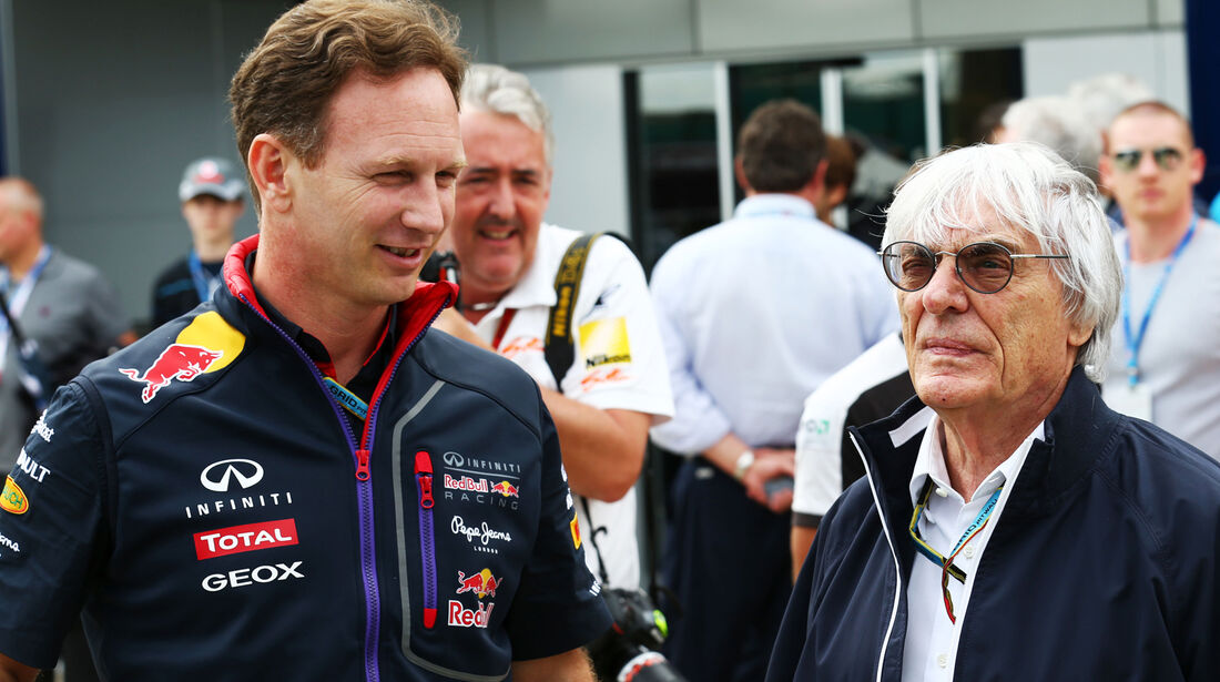 Christian Horner & Bernie Ecclestone - Formel 1 - GP England - Silverstone - 5. Juli 2014