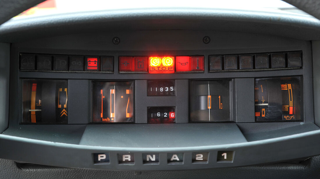 Citroën CX Prestige, Rundinstrumente