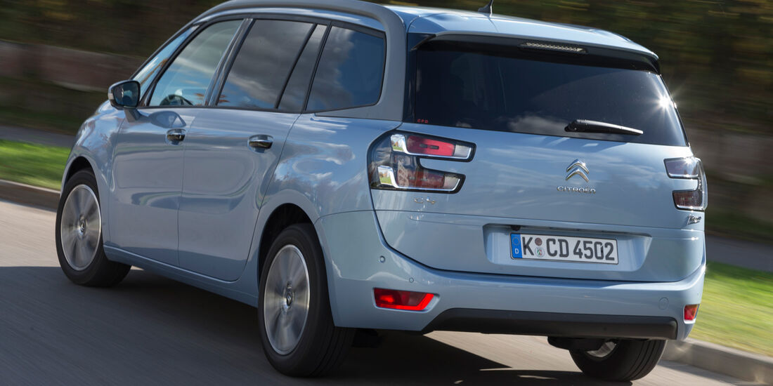 Citroën Grand C4 Picasso e-HDi 115 Intensive, Heckansicht