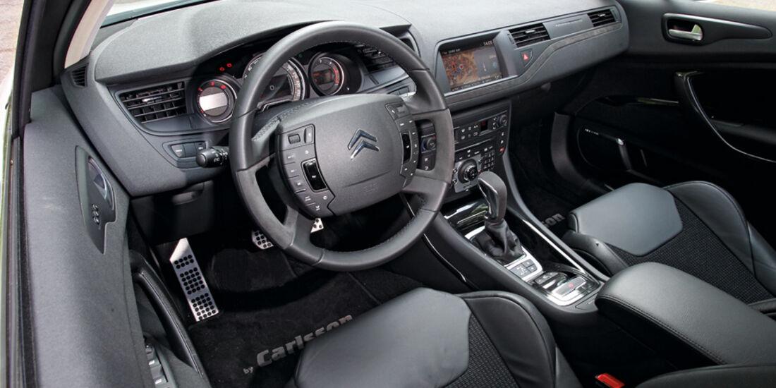 Citroen C5 HDi 200 Tourer by Carlsson, Cockpit, Lenkrad