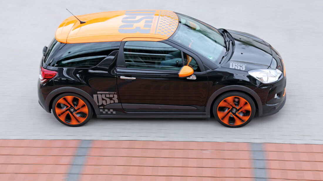 Citroen DS3 Racing, Seitenansicht, von oben