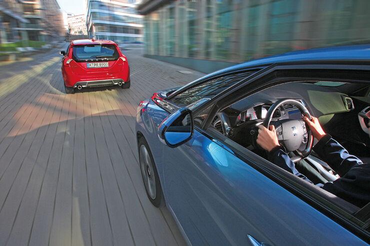 Citroen DS5 Hdi 165, Volvo V60 D3, Fahrt