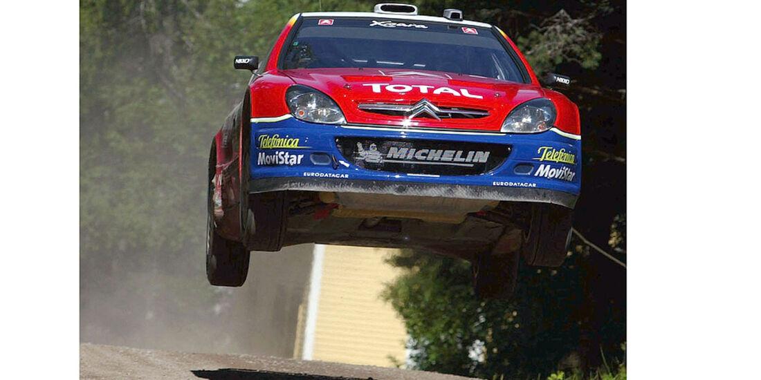 Colin McRae, Rallye Finnland 2003, Rallye-Sprünge