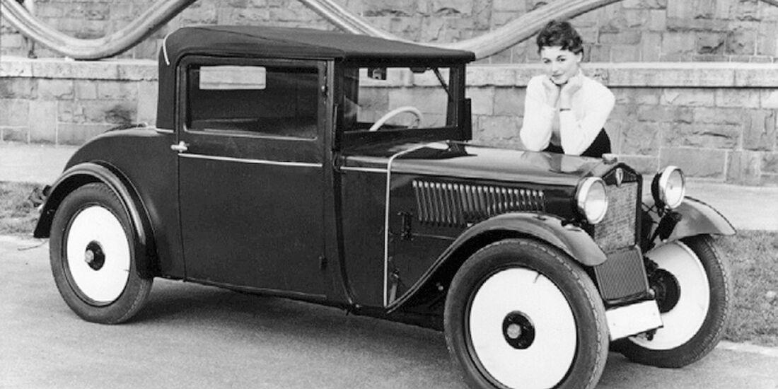 DKW Front mit Frau
