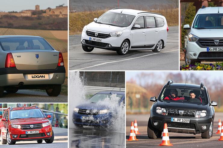 Dacia Jubiläum Collage zehn Jahre 2015