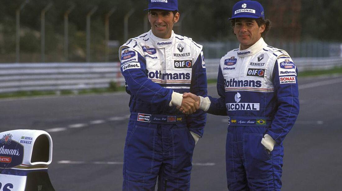 Damon Hill Ayrton Senna