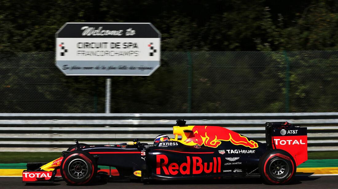 Daniel Ricciardo - Red Bull - Formel 1 - GP Belgien - Spa-Francorchamps - 27. August 2016
