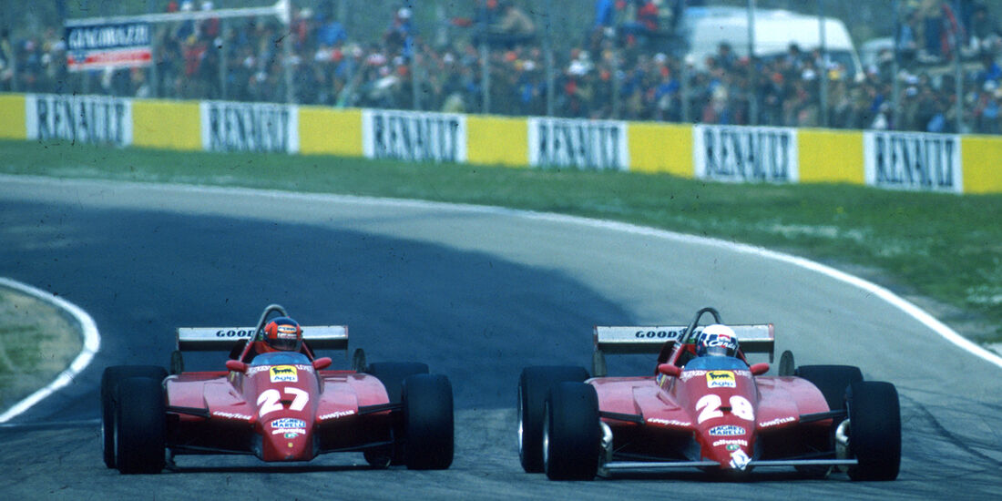 Didier Pironi & Gilles Villeneuve GP San Marino Imola 1982