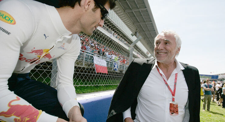 Dietrich Mateschitz und Mark Webber