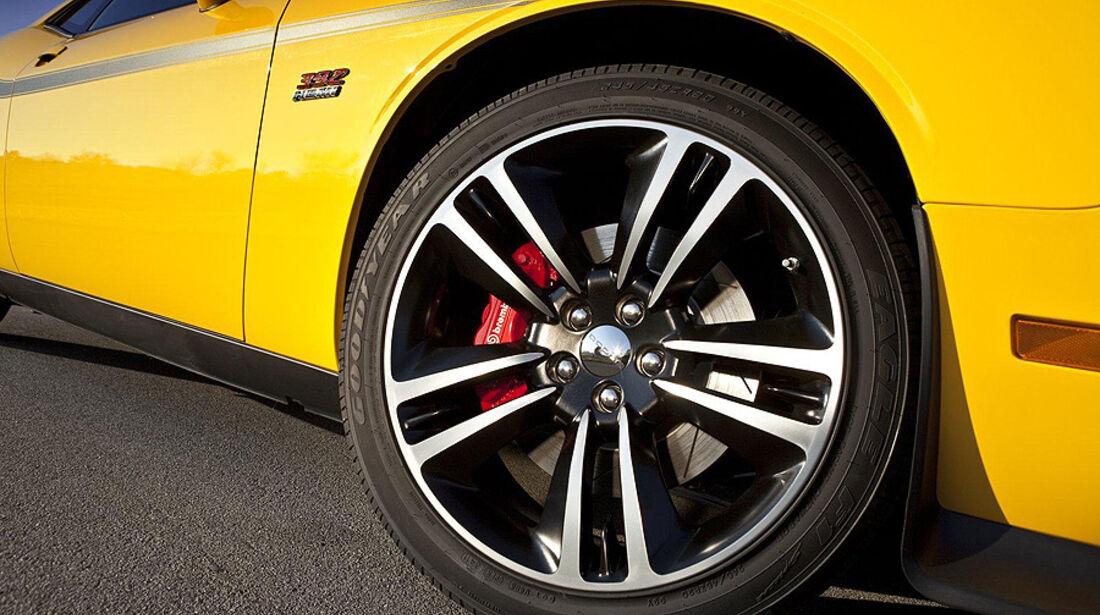 Dodge Challenger SRT8 Super Bee, Felge, Bremssattel