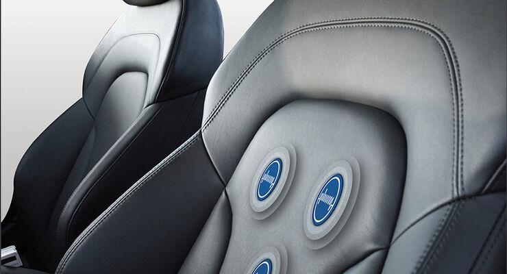 EKG-Sensoren im Autositz