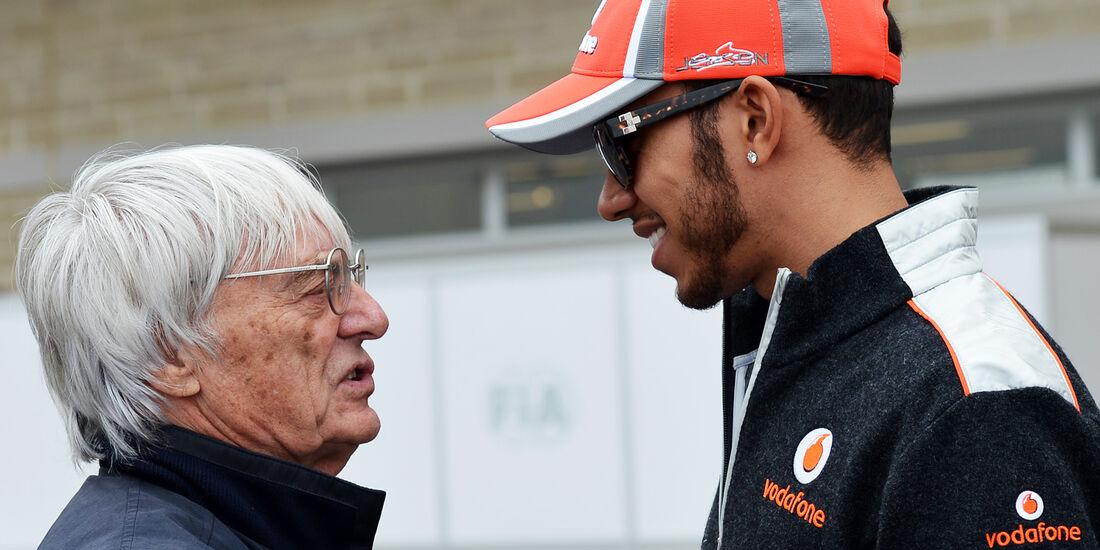Ecclestone & Hamilton - Formel 1 - GP USA - Austin - 15. November 2012