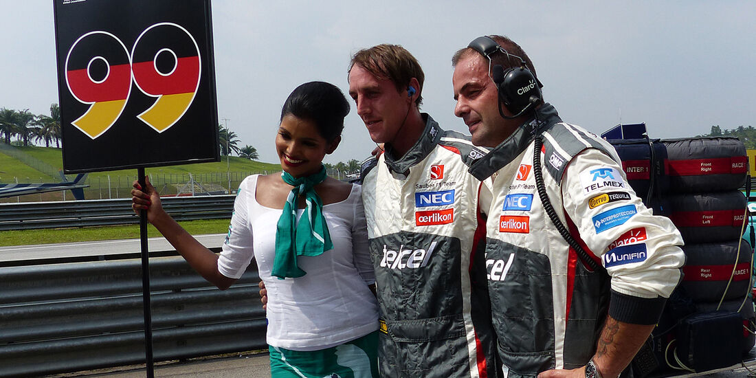 Ecclestone & Hamilton - GP Malaysia 2014