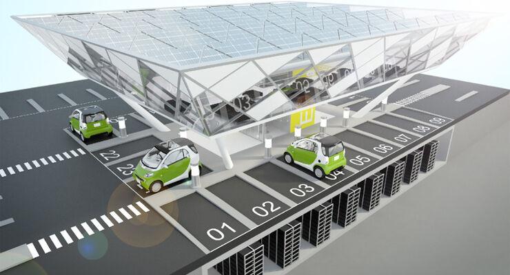 Eco Drive Solartankstellen, Solarzellen