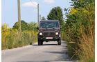 Einkaufs-Tour, Mercedes 300 GD, W 463, Frontansicht