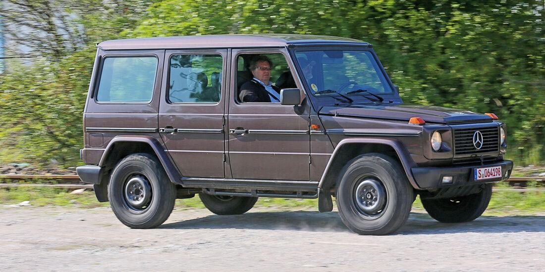 Einkaufs-Tour, Mercedes 300 GD, W 463, Seitenansicht