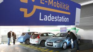 Elektroautos Nissan Leaf, Renault Fluence Z. E., Volvo C30 Electric