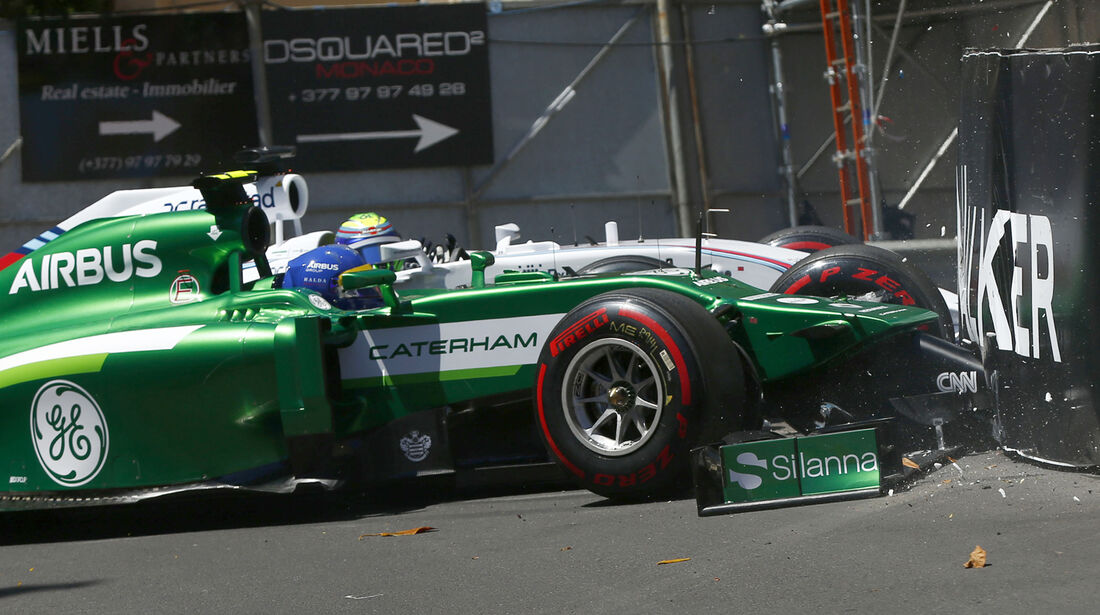 Ericsson vs. Massa - GP Monaco - Crashs 2014