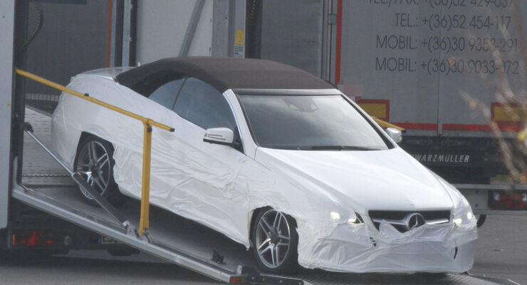 Erlkönig Mercedes E-Klasse Cabrio