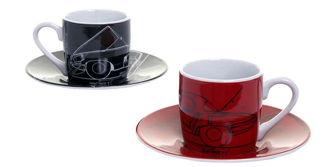 "Espresso-Set ""E-Type"" Jaguar E-ype 50 Jahre zubehör"