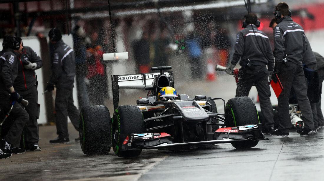 Esteban Gutiérrez, Sauber, Formel 1-Test, Barcelona, 28. Februar 2013