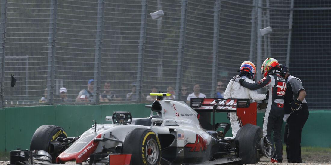 Esteban Gutierrez - GP Australien - Crash - 2016