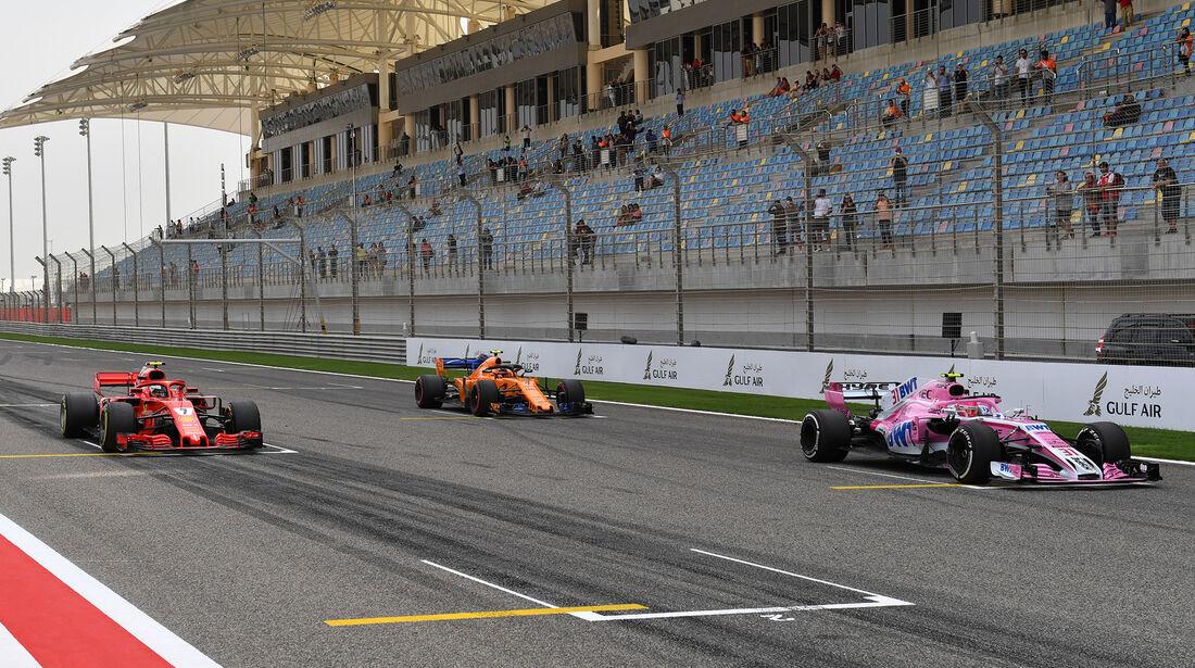Esteban Ocon - Force India - Formel 1 - GP Bahrain - Training - 6. April 2018