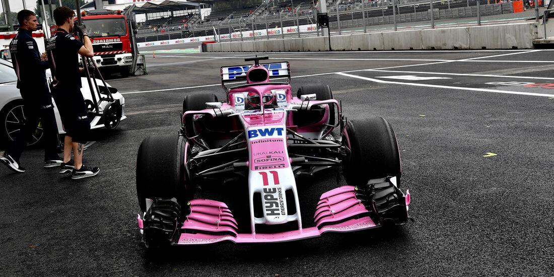 Esteban Ocon - Force India - Formel 1 - GP Mexiko - 27. Oktober 2018