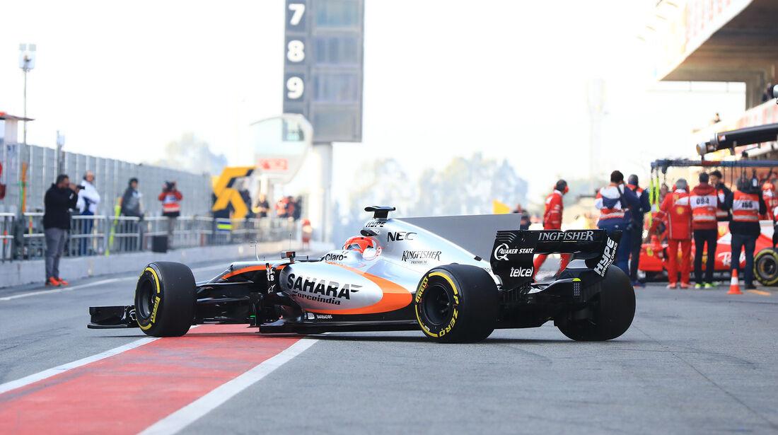 Esteban Ocon - Force India - Formel 1 - Test - Barcelona - 9. März 2017